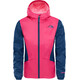 The North Face Girls Zipline Rain Jacket Peticoat Pink/Blue Wing Teal